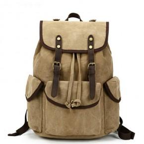 041PL VINTAGE SCOUT™. Płócienny plecak miejski. Kolor: KHAKI