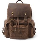 042PL WAX VINTAGE SCOUT™. plecak miejski z woskowanej bawełny. Kolor: SZARY