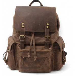 042PL WAX VINTAGE SCOUT™. plecak miejski z woskowanej bawełny. Kolor: BRĄZ
