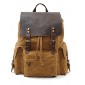 042PL WAX VINTAGE SCOUT™. plecak miejski z woskowanej bawełny. Kolor: KHAKI