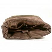 05PL ROOLL VINTAGE® WAX Rolowany płócieny plecak bawełniany damski / męski. ZIELEŃ WOJSKOWA