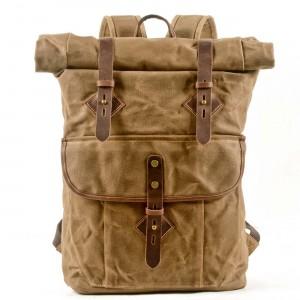 05PL ROOLL VINTAGE® Rolowany płócieny plecak bawełniany damski / męski. KHAKI