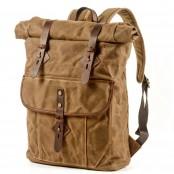 05PL ROOLL VINTAGE®WAX Rolowany płócienny plecak bawełniany damski / męski. KHAKI