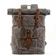 05PL ROOLL VINTAGE® WAX Rolowany płócieny plecak bawawełniany SZARY