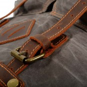 06PL WAX ROOLL VINTAGE 2 Rolowany płócieny plecak bawełniany damski / męski. SZARY