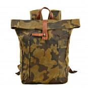 07PL WAX ESSEX MILITARY woskowany płócieny plecak bawełniany unisex. 2 typy kamuflażu