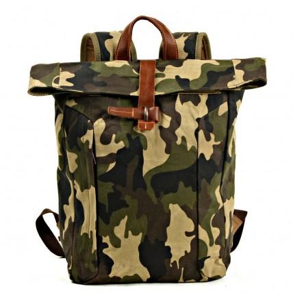 07PL WAX ESSEX MILITARY woskowany płócienny plecak bawełniany unisex. 2 typy kamuflażu