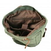 07PL WAX ESSEX VINTAGE woskowany płócienny plecak bawełniany unisex. SZARY