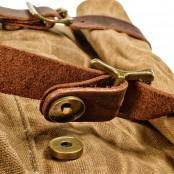 08PL WAX ROOLL SCOUT. Płócieny plecak bawełniany damski / męski.CIEMNY SZARY