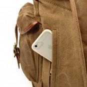091PL WAX SCOUT. Płócienny plecak miejski unisex.CZARNY