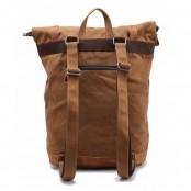 02PL MATILDE® płócienny plecak bawełniany damski / męski. Dodatki skórzane. Kolor ciemnoszary