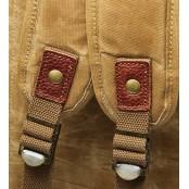 03PL WAXVINTAGE® woskowany płócieny plecak bawełniany damski / męski. Dodatki skórzane. Kolor  khaki