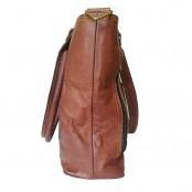 """TS1. Skórzana Shopperka damska torba na ramię. Naturalna skóra. Kolor: brązowy. Rozmiar: 15"""""""