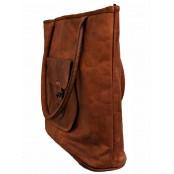 """TS3. Duża skórzana shopperka damska torba na ramię z naturanej skóry. Kolor: brązowy. Rozmiar: 17"""""""