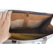 """TS5. Prosta klasyczna skórzana shopperka damska torba na ramię z naturanej skóry. Kolor: brązowy. Rozmiar: 14"""""""