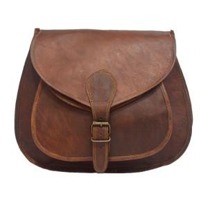 """8. Skórzana torebka damska na ramie, wykonana ręcznie z naturanej skóry. Kolor: brązowy. Rozmiar: 7""""-13"""""""