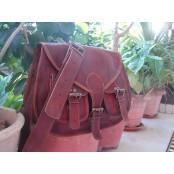 """2. Skórzana torebka damska na ramie, ręcznie wykonana z naturanej skóry. Kolor: brązowy. Rozmiar: 13"""""""