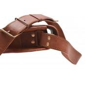 """11. Skórzana damska aktówka torebka na ramie, wykonana ręcznie z naturanej skóry. Kolor: brązowy. Rozmiar: 9""""-13"""""""
