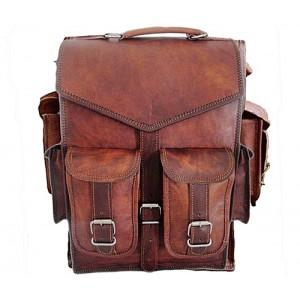 """TP4 Wielofunkcyjny skórzany plecak - raportówka VINTAGE 4™ damski / męski. Idealny na laptopa. Rozmiar: 10"""""""
