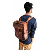 "TP5 Duży skórzany plecak VINTAGE 5™ damski / męski. Idealny na laptopa. Rozmiar: 15"""