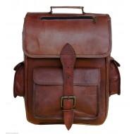 "TP5 Duży skórzany plecak VINTAGE 5™ damski / męski. Idealny na laptopa. Rozmiar: 16"""