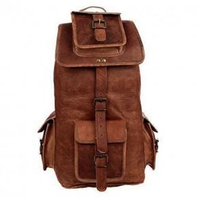 """TP7 Średniej wielkości skórzany plecak VINTAGE 6™ damski / męski. Idealny na laptopa. Rozmiar: 18"""""""
