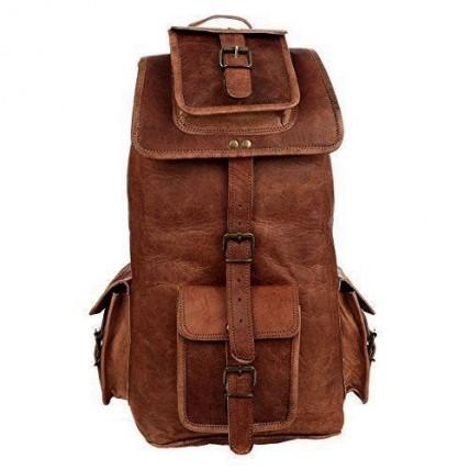 """TP8 Duży i wysoki skórzany plecak VINTAGE 6™ damski / męski. Idealny na laptopa. Rozmiar: 20"""""""