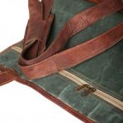"TP1 Srednia torba podróżna na ramię z funkcją plecaka TRAVELLER MAX™. Skóra naturalna. Rozmiar: 24"""
