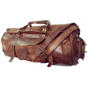 """TP1 Mała torba podróżna na ramię z funkcją plecaka TRAVELLER MAX™. Skóra naturalna. Rozmiar: 20"""""""
