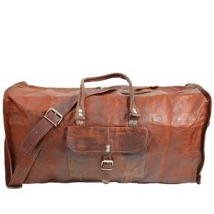 """TP6 Skórzana torba podróżna HOLDALL VINTAGE™. Skóra naturalna. Mała i średnia. Rozmiar: 22""""-24"""""""