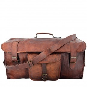 """TP92 Męska skórzana torba podróżna na ramię ESCAPADE™ weekendowa, holdall. Skóra naturalna. Rozmiar: 20""""-28"""""""