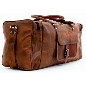 """TP991 Skórzana torba podróżna Mark IV, holdall damski lub męski. Rozmiar: 26""""-30"""""""