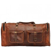 "TP9 Skórzana torba podróżna / weekendowa na ramię MARK VINTAGE™ Skóra naturalna. Rozmiar: 24""-28"""