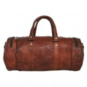 "TP2 SHIBAR VINTAGE™ Skórzana torba podróżna / weekendowa na ramię. Skóra naturalna. Rozmiar: 30"""