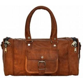"TP8 Skórzana torba podróżna / weekendowa na ramię LOTHAR VINTAGE™ Skóra naturalna. Rozmiar: 16""-30"""