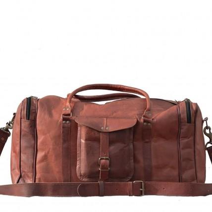 "TP91 Skórzana torba podróżna na ramię MARK II VINTAGE™ weekendowa, holdall. Skóra naturalna. Rozmiar: 20""-30"""