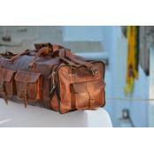 "TP94 Wielka torba podróżna skórzana - plecak JOURNEY MAX™. Skóra naturalna. Rozmiar: 30"""