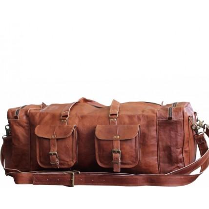 """TP95 Wielka torba podróżna skórzana - plecak MAX TRIP™. Skóra naturalna. Rozmiar: 29"""""""