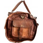 """TP96 Wielka torba podróżna skórzana MAX TRAVEL™. Skóra naturalna. Rozmiar: 26"""""""