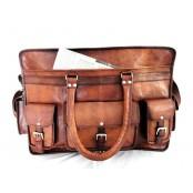 """TP99 Męska skórzana torba podróżna na ramię ESCOBAR™ weekendowa, bagaż podręczny. Skóra naturalna. Rozmiar: 22"""""""