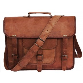 TA5 Skórzana teczka torba na ramię. Ręcznie robiona. Skóra naturalna