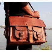 TA4 Skórzana aktówka torba na ramię. Ręcznie robiona. Skóra naturalna