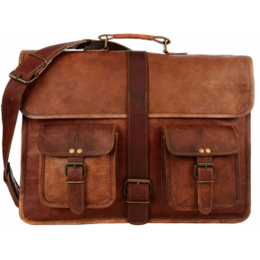 """TA13 Skórzana teczka torba na laptopa. Ręcznie robiona. Skóra naturalna. Rozmiar: 15""""-17"""""""