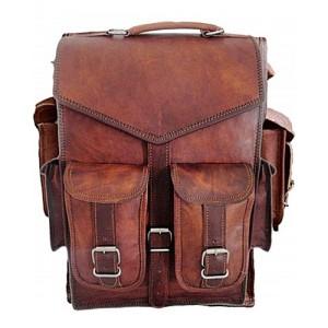 """TAR2 Skórzana raportówka unisex  z funkcją plecaka. Ręcznie robiona. Skóra naturalna.Rozmiar: 11"""""""