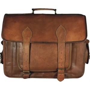 TA8 Skórzana teczka torba na laptopa. Ręcznie wykonana. Skóra naturalna