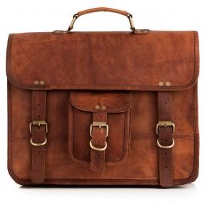 TA7 Skórzana teczka torba na ramię. Ręcznie robiona. Skóra naturalna
