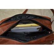 TA6 Skórzana teczka torba na ramię. idealna na laptopa. Ręcznie robiona. Skóra naturalna
