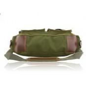 ✈ #06 'REPORTER II' ™ Torba chlebak, bawełna & skóra sztuczna. Zieleń wojskowa