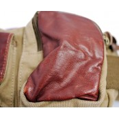✈ #07 'REPORTER III' ™ Torba - nerka, bawełna & skóra naturalna. khaki