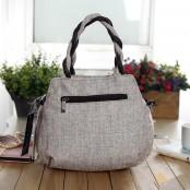 Damska torba na ramię DALI™, bawełna - len. Handmade